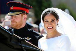 Harry og Meghan giftu sig árið 2018.