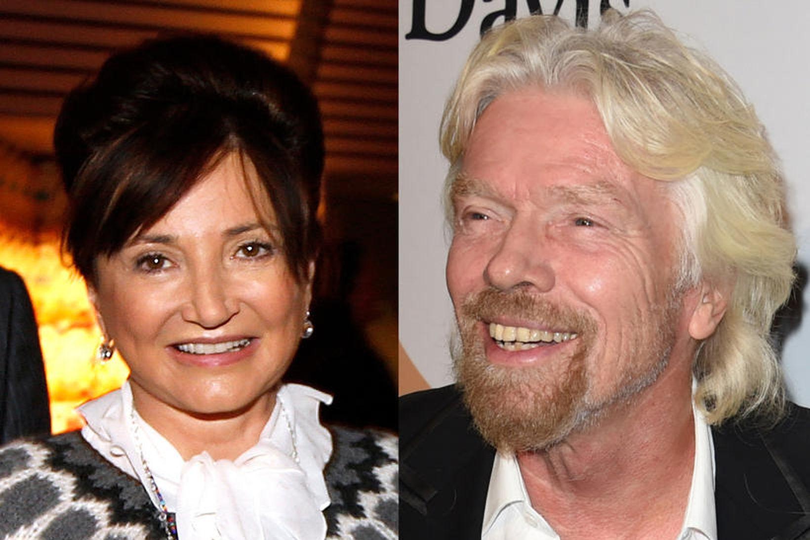 Dorrit Moussaieff og Richard Branson eru góðvinir til margra ára.