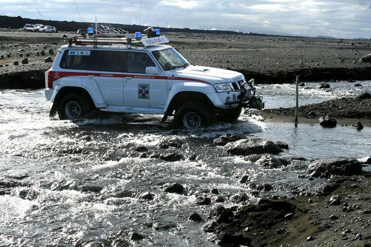 A vehicle from the highland rescue team.
