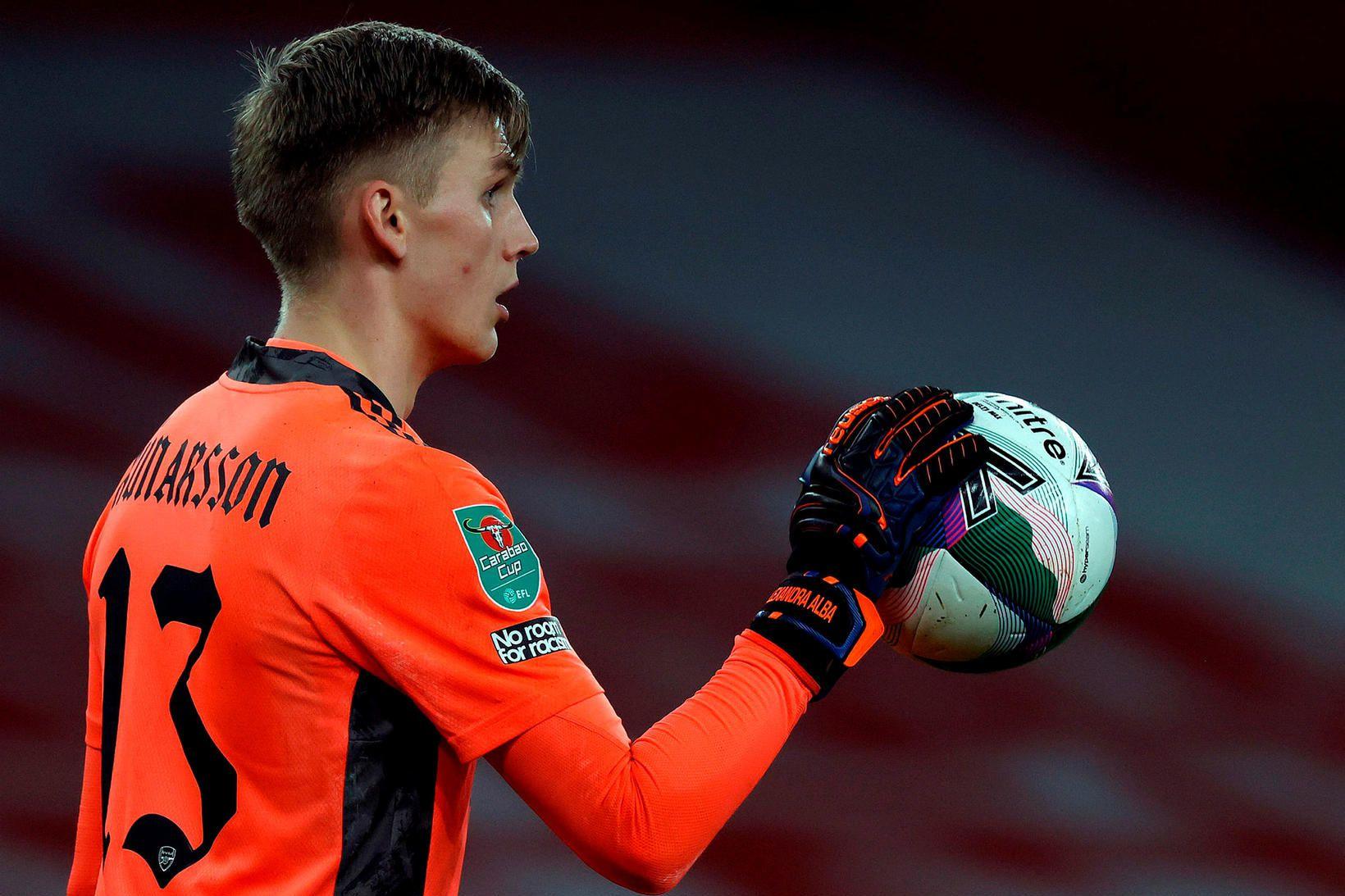 Rúnar Alex Rúnarsson er ekki í hópi hjá Arsenal.