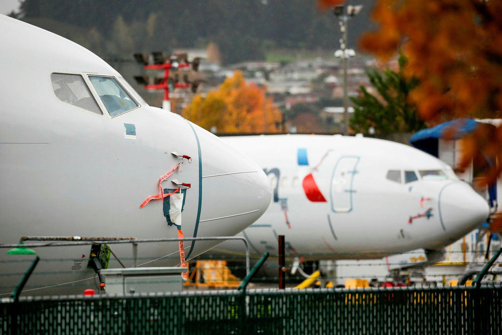 Allar flugvélar af gerðinni Boeing 737 Max voru kyrrsettar í …