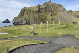 Hluti af golfvelli Vestmannaeyja verður nýttur undir VIP-tjaldsvæði á Þjóðhátíð í sumar.