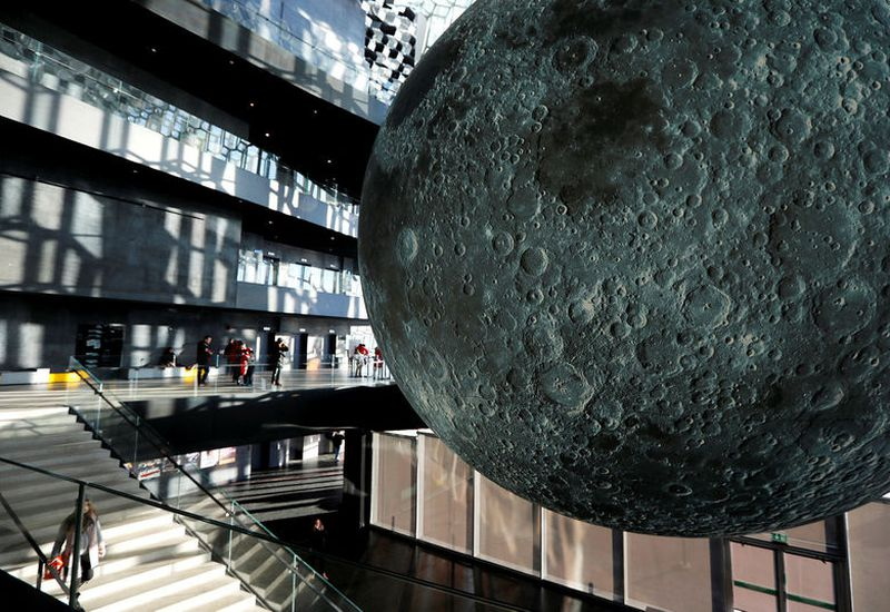 Museum of the moon is a new touring artwork by UK artist Luke Jerram.