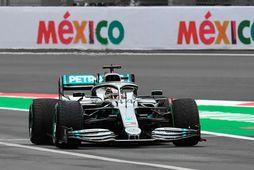 Lewis Hamilton í Mexíkóborg í dag.