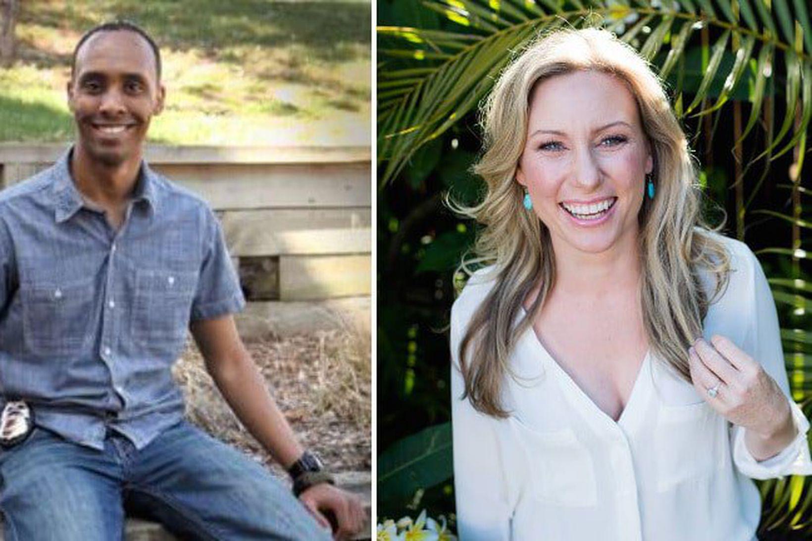 Lögreglumaðurinn Mohamed Noor og Justine Damond.