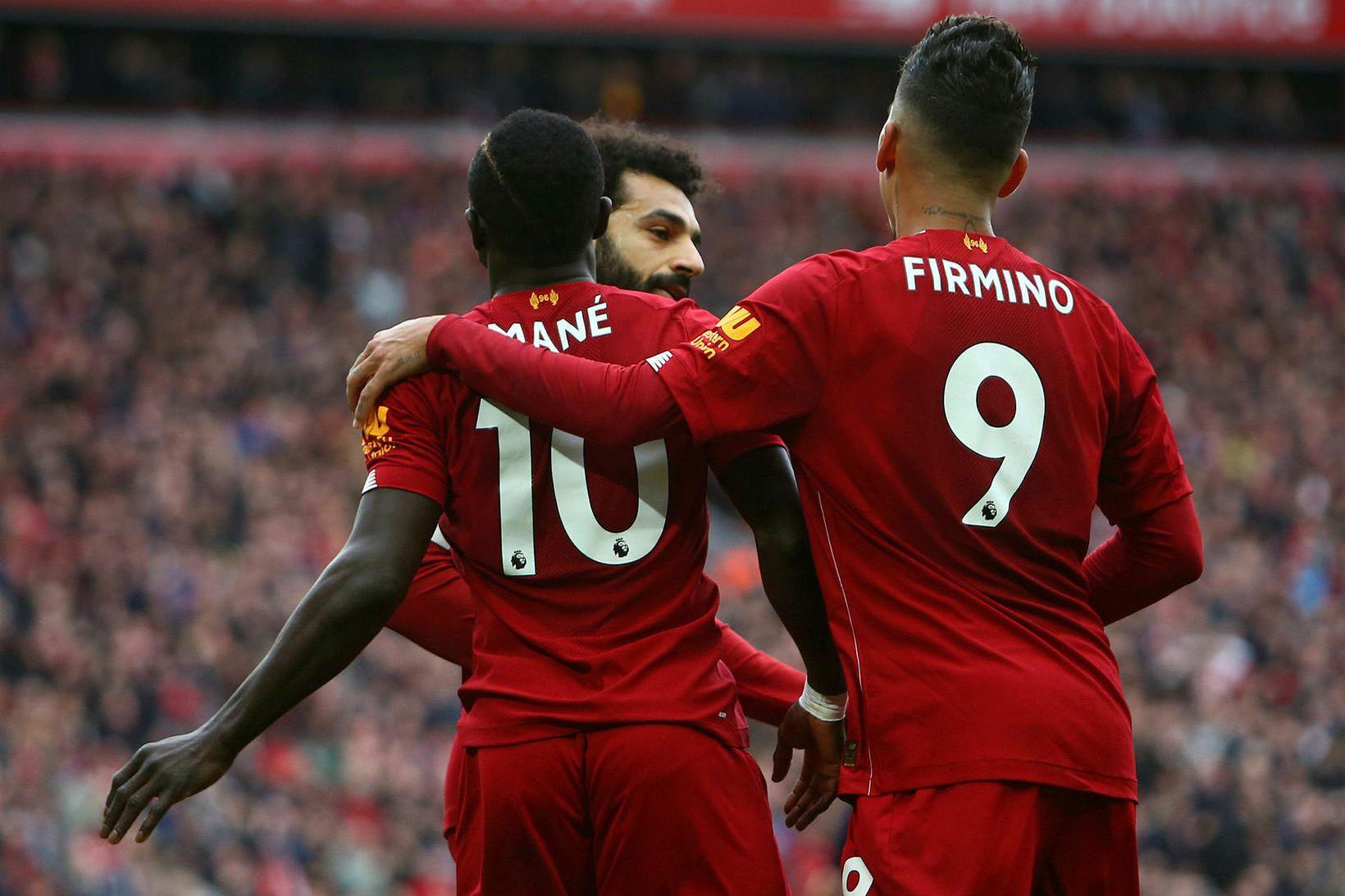Liverpool er með 25 stiga forskot á toppi ensku úrvalsdeildarinnar …