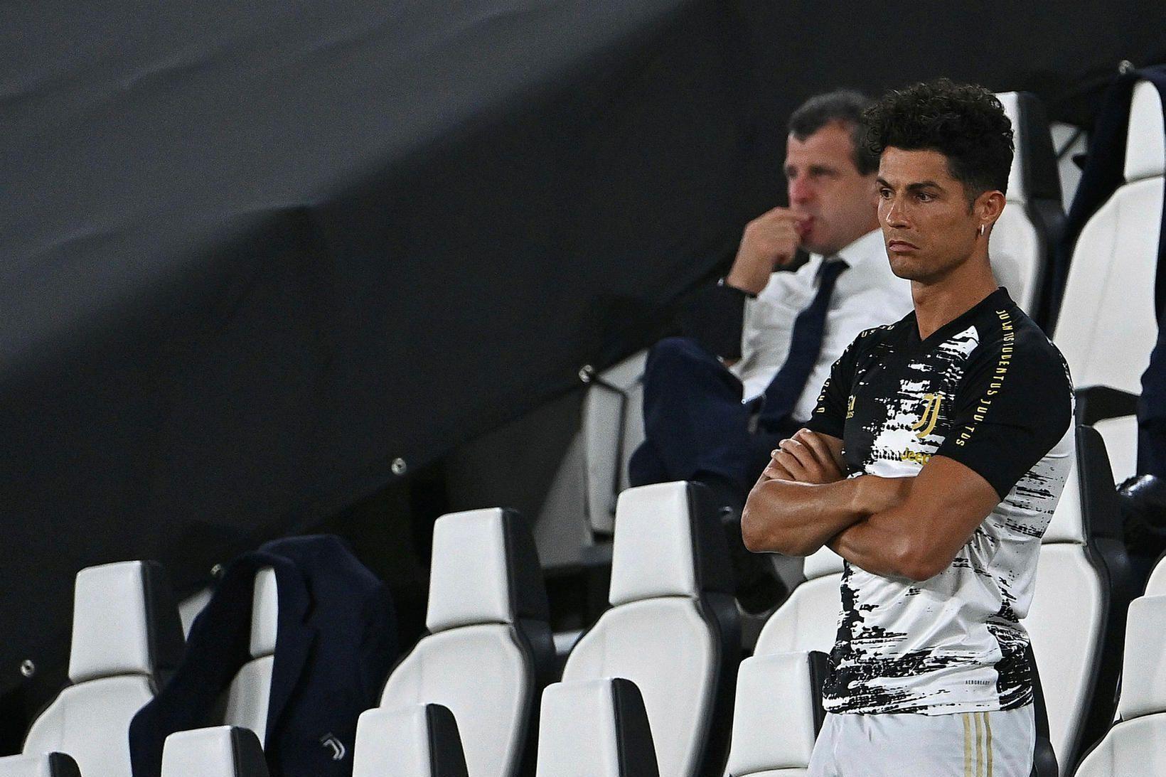 Cristiano Ronaldo var lítt skemmt í kvöld.
