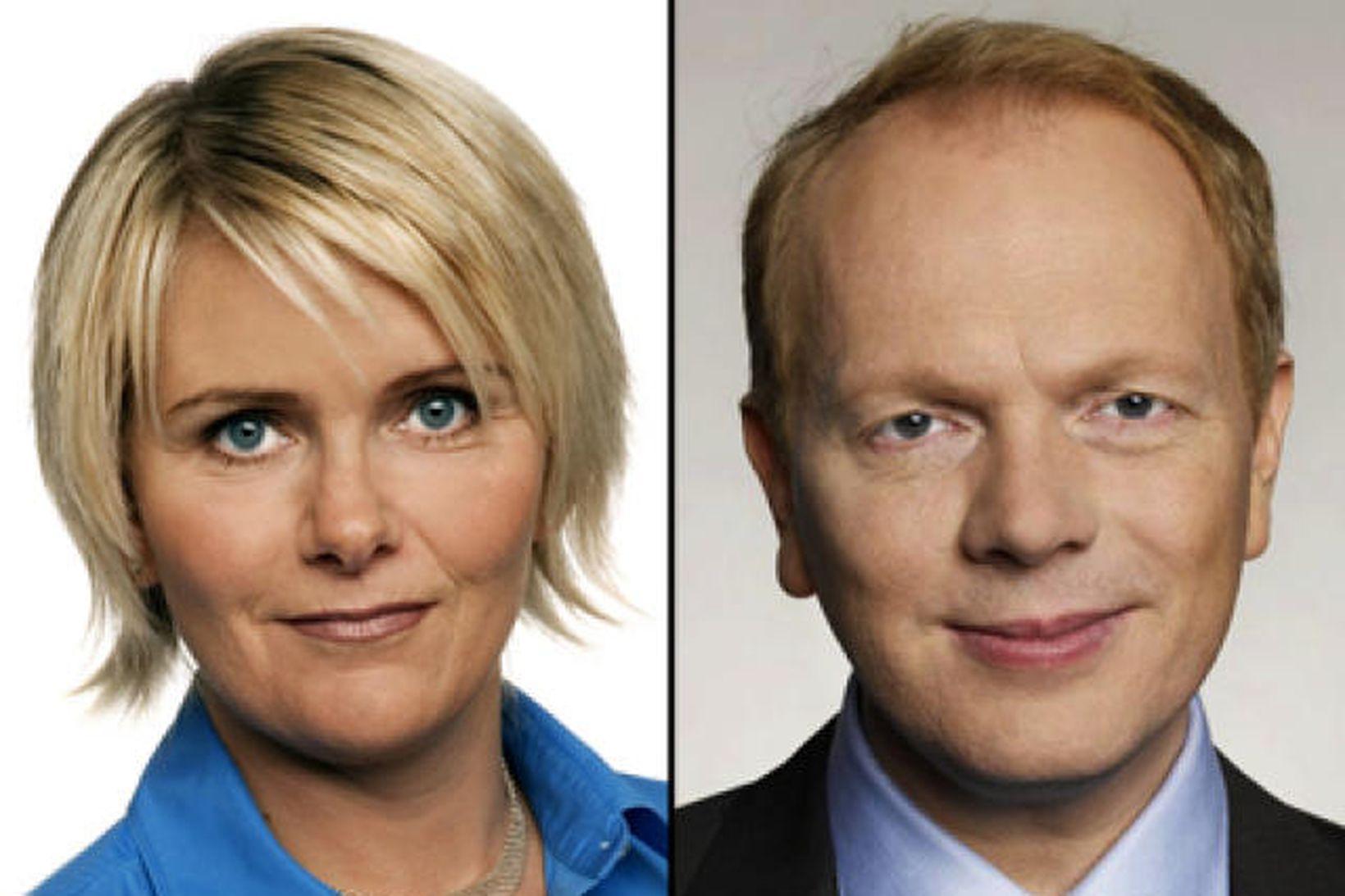Ragnheiður Elín Árnadóttir og Illugi Gunnarsson.