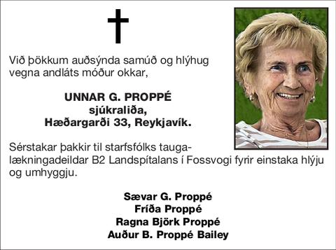 Unnar G. Proppé