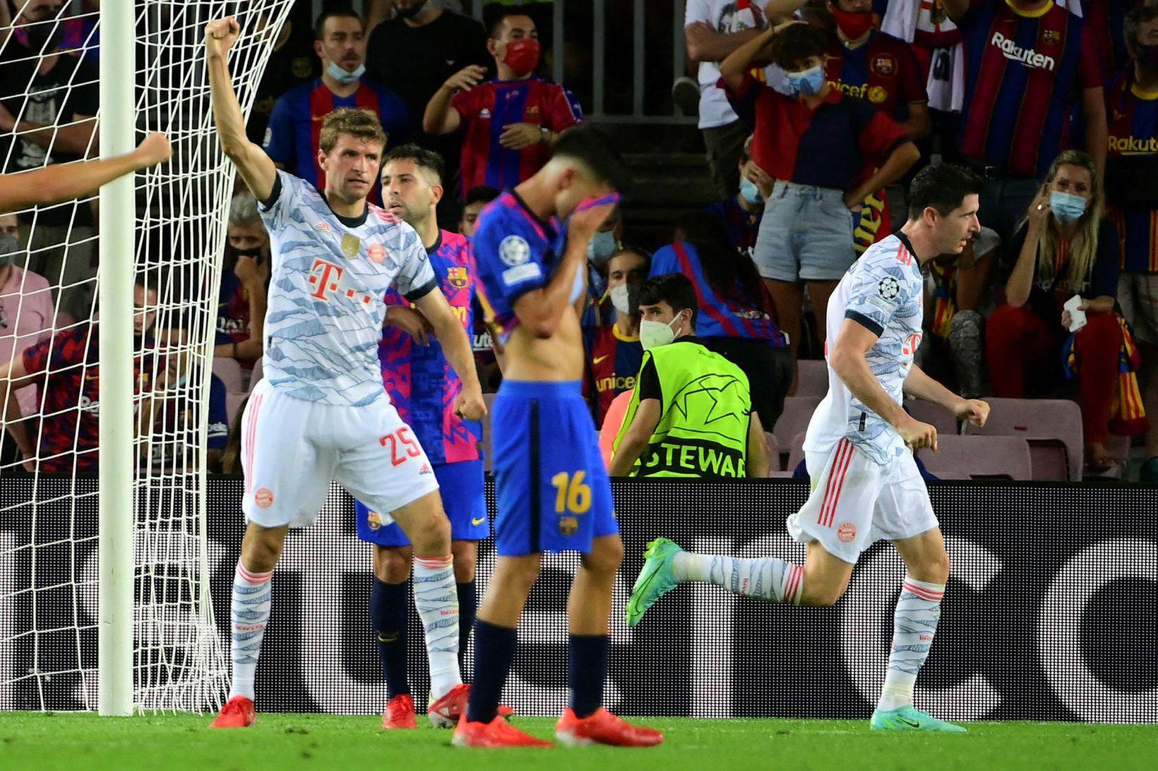 Leikmenn Barcelona áttu fá svör gegn Þýskalandsmeisturunum í gær.