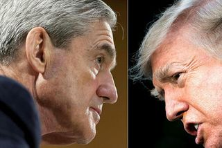 Skýrsla Robert Mueller, sérstaks saksóknara FBI (t.v.), þykir veita innsýn í lífið í Hvíta húsinu ...