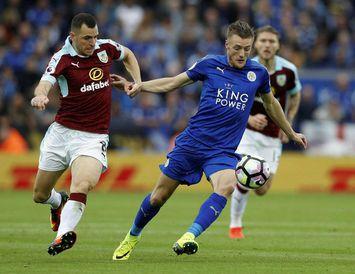 Jamie Vardy, framherji Leicester City, í leik liðsins gegn Burnley fyrr í vetur.