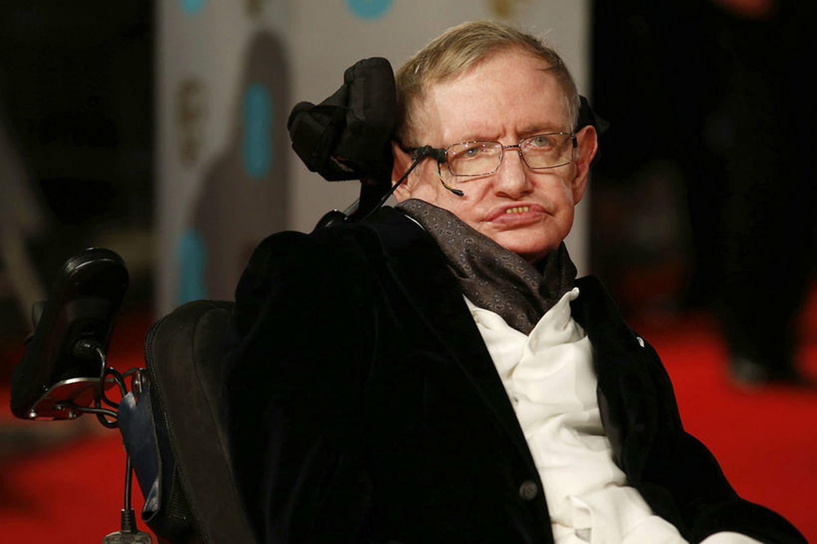 Stephen Hawking var einn áhrifamesti vísindamaður síðustu aldar.