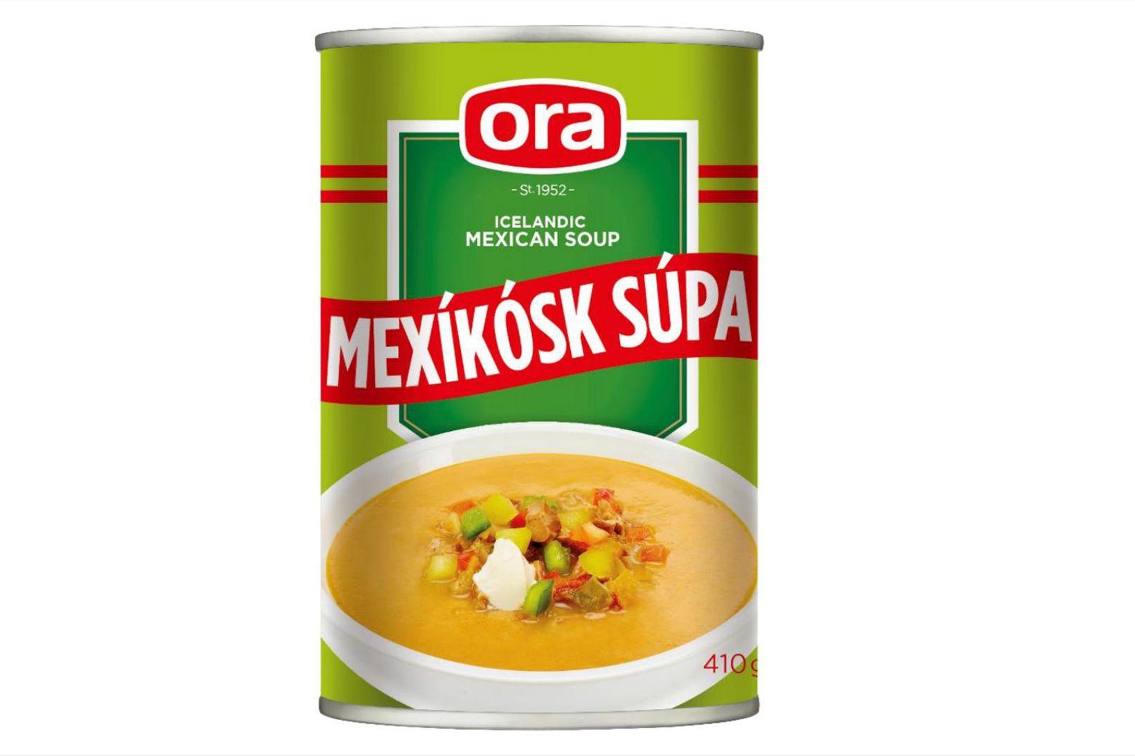 Mexíkósk súpa frá Ora.