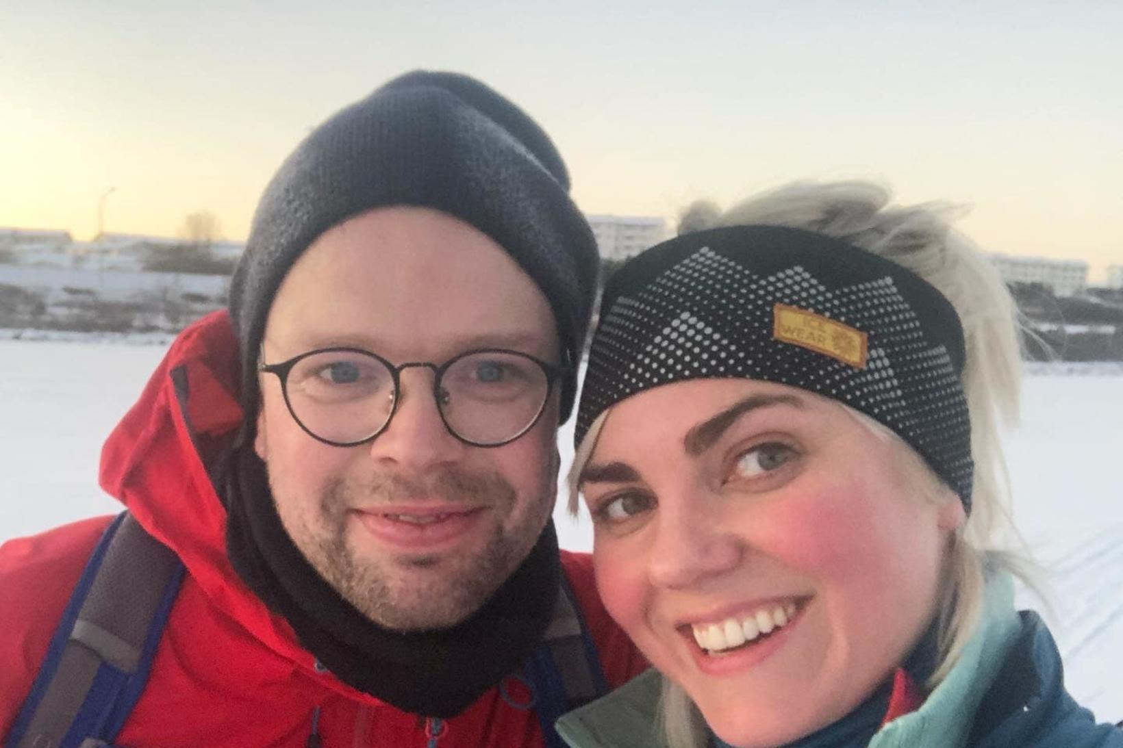 Dóra Björt Guðjónsdóttir og Sævar Ólafsson fundu ástina árið 2020.