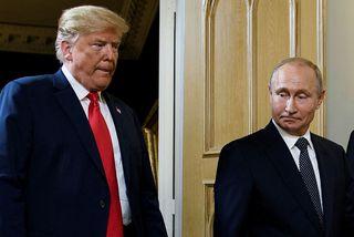 Donald Trump Bandaríkjaforseti og Vladimír Pútín Rússlandsforseti á fundi þeirra í Helsinki í sumar.