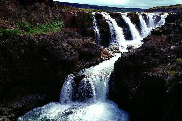 Kolugljúfur is a deep and magnificent canyon in the Víðidalsá river.