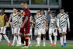 Manchester United tapaði í Róm en það kom ekki að sök.