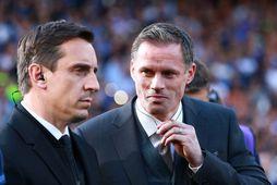 Gary Neville og Jamie Carragher vinna hjá Sky Sports.