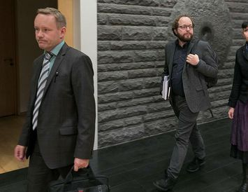 Píratarnir Einar Brynjólfsson, Smári McCarthy og Birgitta Jónsdóttir.