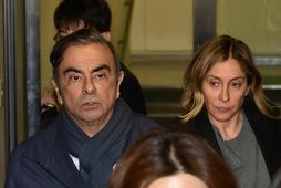 Carlos Ghosn ásamt eiginkonu sinni, Carole.