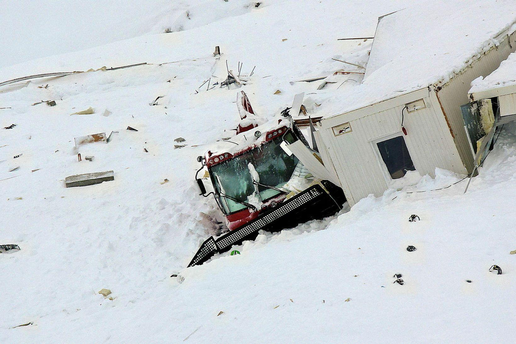 Stærsta snjóflóðið á Tröllaskaga féll á skíðasvæði.