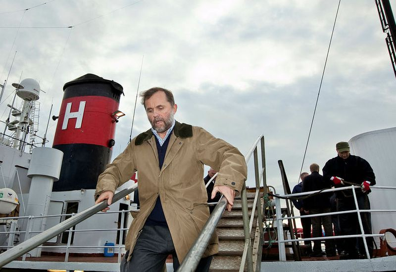 Kristján Loftsson is not attending the meeting of the International Whaling Commission in Brazil.