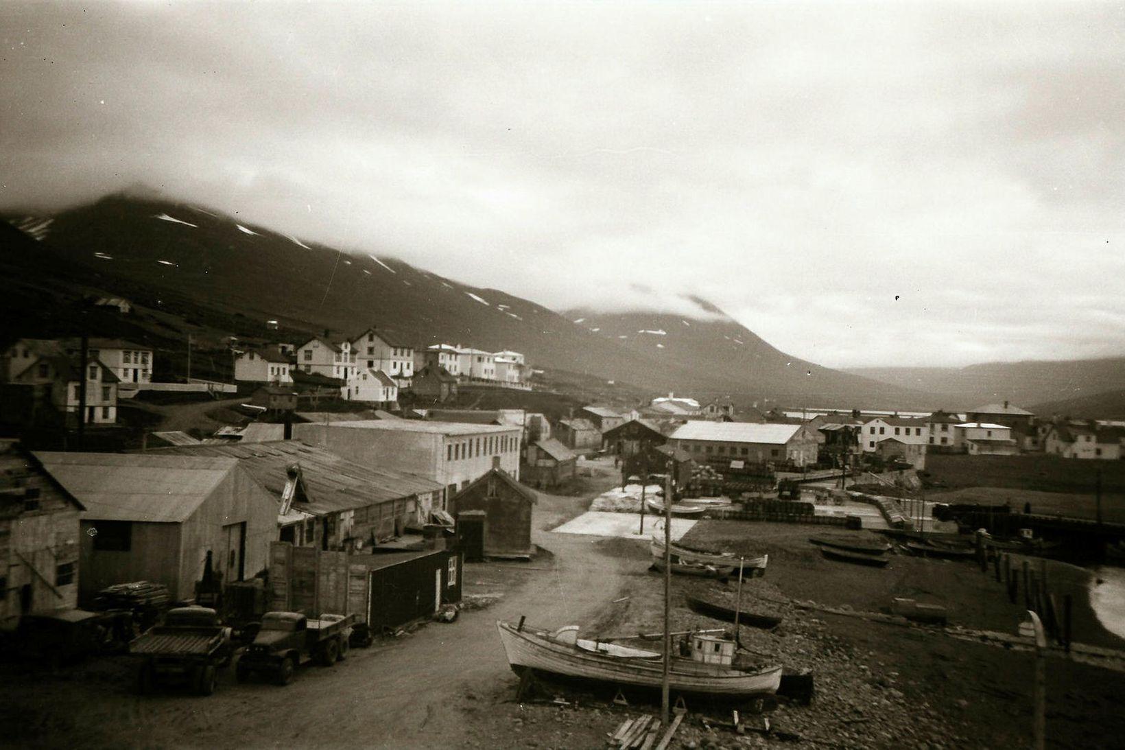 Ólafsfjörður á árunum í kringum 1950.