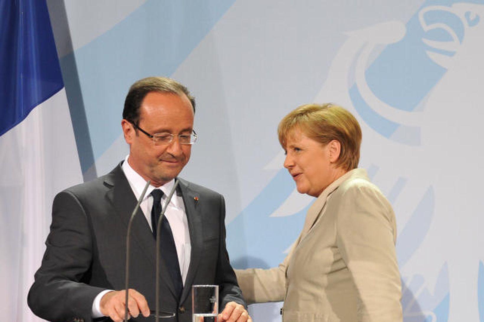 François Hollande og Angela Merkel segjast ætla að gera allt …
