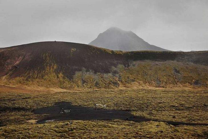 Neðri borholan við Trölladyngju. Holan gefur orku en finna þyrfti meiri orku til að það ...
