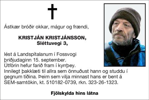 Kristján Kristjánsson,