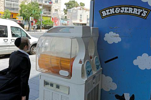 Bandaríski ísframleiðandinn Ben & Jerry's veldur usla í Ísrael.