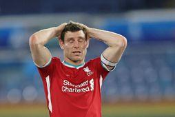 James Milner var fyrirliði Liverpool í gærkvöld.