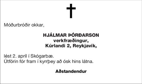 Hjálmar Þórðarson