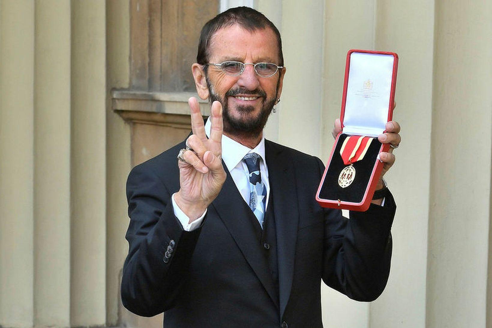 Ringo Starr er áttræður í dag.