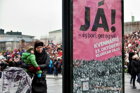 The last time that women went on strike at work was in October in 2010. Over 50.000 women attended a protest at Austurvöllur square.