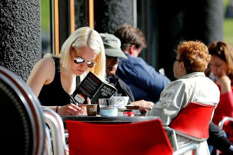 From a café in downtown Reykjavík.