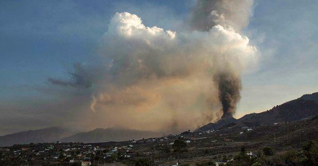 Cumbre Vieja eldfjallið á La Palma.