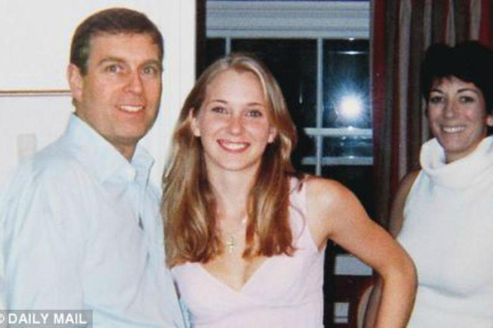 Andrés prins og Virginia Roberts þegar þau hittust fyrst árið …