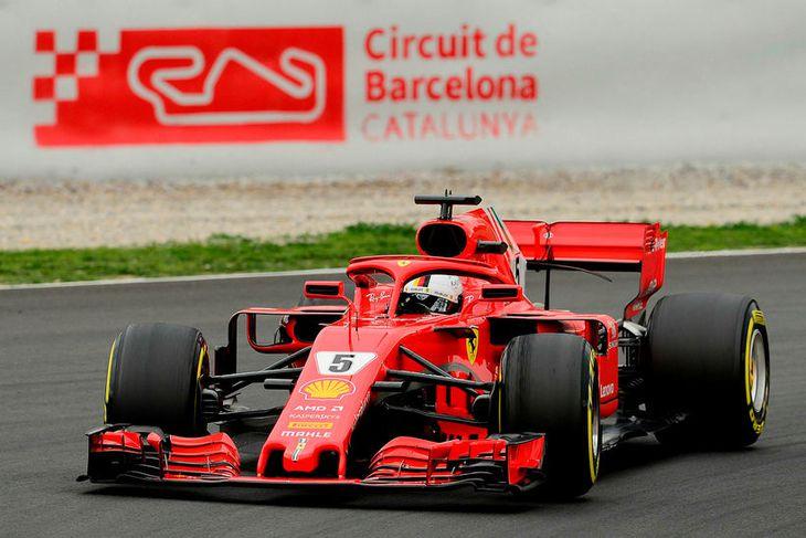 Sebastian Vettel ók hraðar í Barcelona í dag en nokkur annar ökumaður hefur gert.