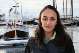 Charla Jean Basran, doktorsnemi við rannsóknasetur Háskóla Íslands á Húsavík stúderar hnúfubaka og aðra stórhveli