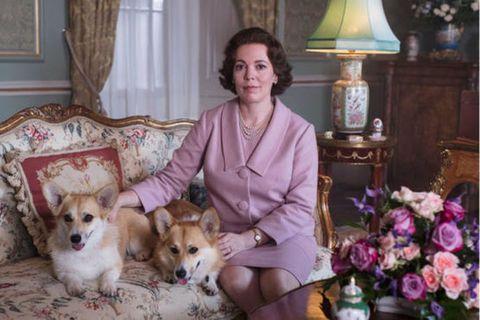 Olivia Coleman í hlutverki sínu sem Elísabet II. í þriðju þáttaröð af The Crown.