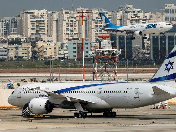 From Tel Aviv. A Boeing Dreamliner from El Al.