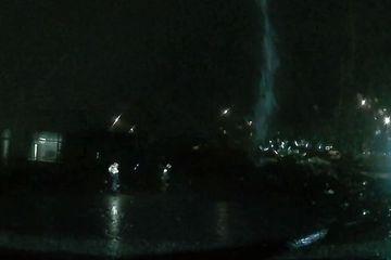 Lightning in Reykjavik