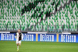 Cristiano Ronaldo hefur leikið með Juventus frá árinu 2018.