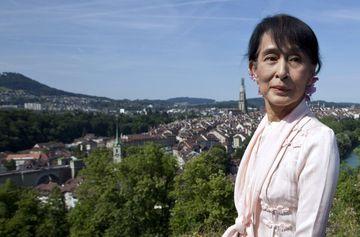 Aung San Suu Kyi ferðast nú um Evrópu í fyrsta sinn síðan 1988.