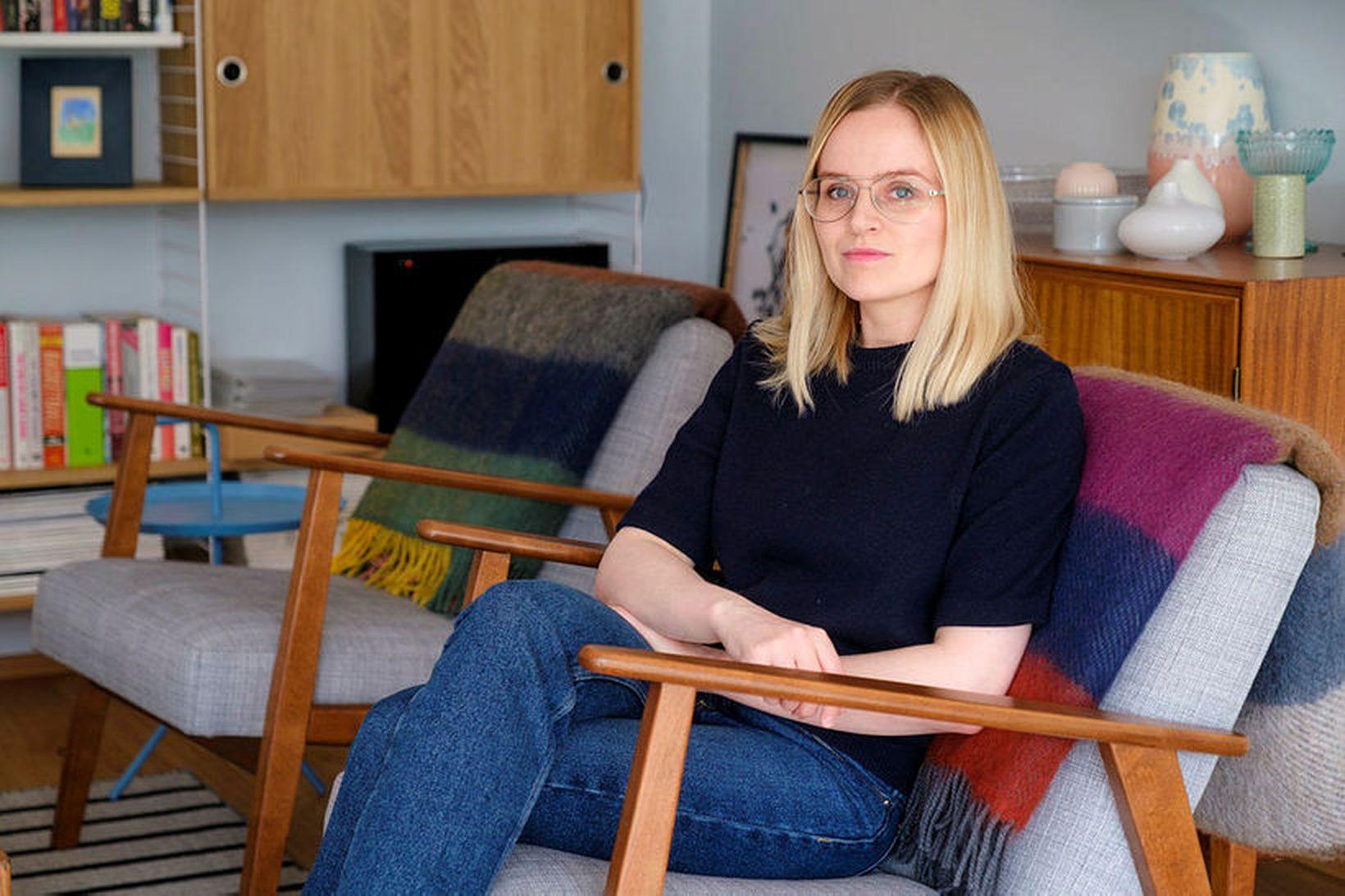 Erna Einarsdóttir hönnuður hannaði umhverfisvæna teppalínu fyrir Geysi.