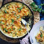 Ofnbakað kjúklinga-tortellini með piparosta-mozzarella
