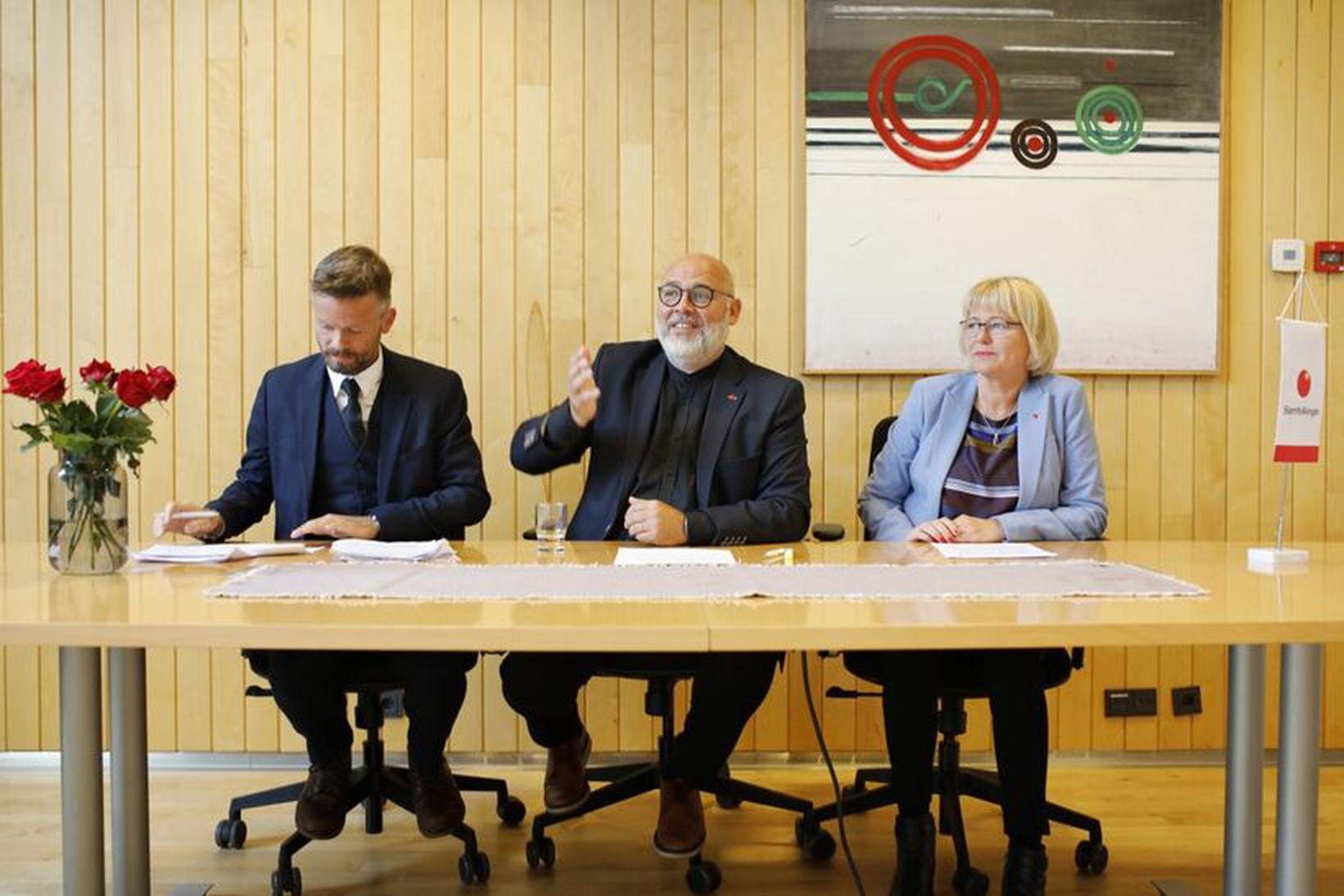 Ágúst Ólafur Ágústsson, Logi Einarsson og Oddný G. Harðardóttir kynntu …