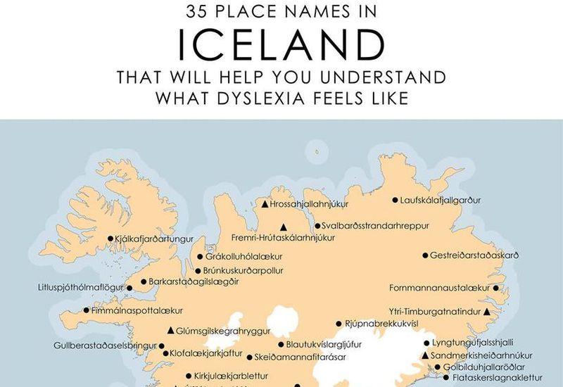 The map of unpronounceable place names.